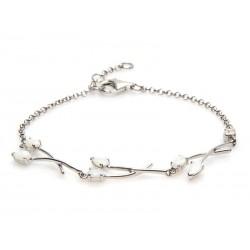 Bracelet Argent et Opale 7...