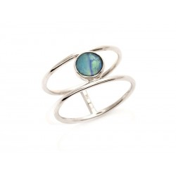 Bague argent opale doublet
