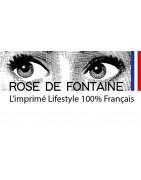 Rose de Fontaine Mode française 100% imprimé Lifestyle
